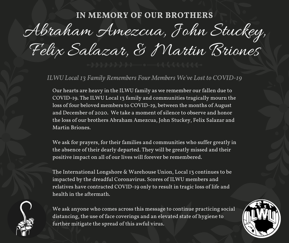 In Memory of Our Brothers